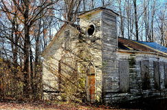 Pittsboro, NC: Old Bynum Church Ruins Royalty Free Stock Photography