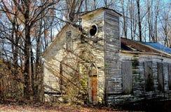 Pittsboro, NC: Oude Bynum-Kerkruïnes Royalty-vrije Stock Fotografie