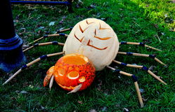 Pittsboro, potirons de NCl Halloween Image libre de droits
