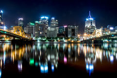 Pittsburg Cityscape Fotografering för Bildbyråer