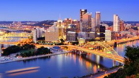 Pittsburgh. Downtown Pittsburgh, Pennsylvania at dusk Stock Photo