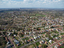 Pittsburgh Aerial. Aerial photo of historic neighborhoods in Pittsburgh Pennsylvania Stock Photo