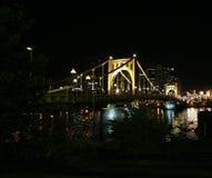 Pittsburgh alla notte Immagine Stock