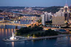 Pittsburgh and Allegheny River Royalty Free Stock Photography