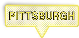 Pittsburgh anförandebubbla som isoleras på vit Royaltyfria Bilder