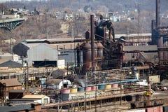 Pittsburgh Blast Furnace Close Stock Image