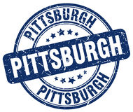 Pittsburgh blue grunge round  stamp Royalty Free Stock Photo