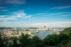 Pittsburgh with Blue Sky Stock Image