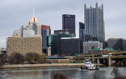 Pittsburgh bogserbåt royaltyfri bild