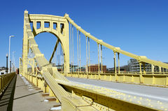 Pittsburgh-Brücke Stockbilder