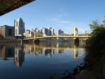 Pittsburgh Bridges and the Ohio River. On a bright sunny day Stock Photos