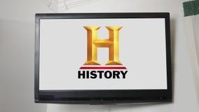 PITTSBURGH - Circa 20 Oktober 2018 - TV-de reeks van het Kanaalembleem - Geschiedeniskanaal stock footage