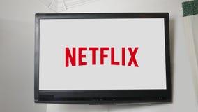 Pittsburgh - Circa Oktober 20 2018 - TV-kanallogoserie - Netflix royaltyfri illustrationer