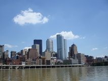 Pittsburgh City Skyline on the River Stock Photo