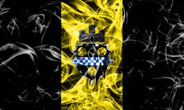 Pittsburgh city smoke flag, Pennsylvania State, United States Of. America royalty free stock image