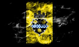 Pittsburgh city smoke flag, Pennsylvania State, United States Of America.  Royalty Free Stock Photo