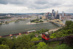 Pittsburgh Cityscape. Downtown Pittsburgh, Pennsylvannia from Mount Washington royalty free stock photography