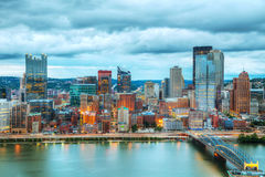 Pittsburgh cityscape with the Ohio river Royalty Free Stock Image