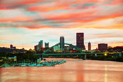 Pittsburgh cityscape with the Ohio river Royalty Free Stock Photography