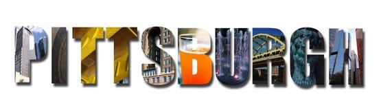 Pittsburgh-Collage auf Weiß lizenzfreie stockbilder