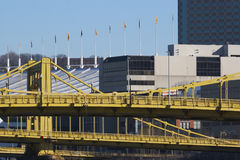 Pittsburgh Convention Center & Bridges. Pittsburgh Bridges with Convention Center in Background Stock Image