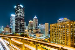 Pittsburgh da baixa, Pensilvânia fotografia de stock