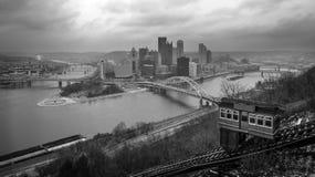 Pittsburgh, dalla pendenza di Duquesne fotografia stock
