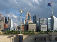 Pittsburgh, Downtown 02. A shot of the Pittsburgh skyline Royalty Free Stock Photos