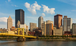 Pittsburgh downtown skyline by the river Royalty Free Stock Image