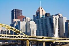 Pittsburgh du centre photos stock