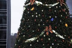 Pittsburgh du centre décoré pendant le Noël Image libre de droits