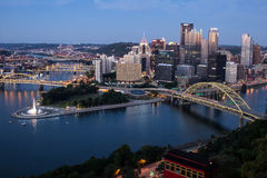 Pittsburgh and Duquesne Incline stock photo