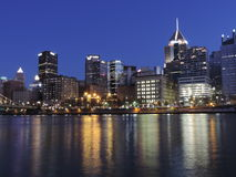 Pittsburgh at Dusk from PNC Park Royalty Free Stock Photography