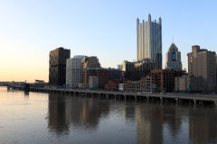 Pittsburgh in the evening Royalty Free Stock Photo