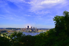 Pittsburgh from a far. A far shot of Pittsburgh pa overlook Royalty Free Stock Photo