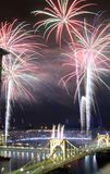 PIttsburgh Fireworks Royalty Free Stock Photos