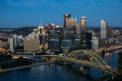 Pittsburgh and Fort Pitt Bridge Royalty Free Stock Images