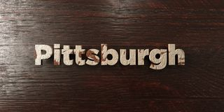 Pittsburgh - grungy wooden headline on Maple  - 3D rendered royalty free stock image Stock Photo