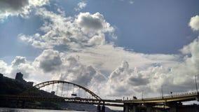 Pittsburgh himmel Fotografering för Bildbyråer