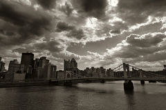 Pittsburgh historique photos stock