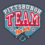 Pittsburgh-Hockey-Team Lizenzfreie Stockbilder