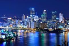 Pittsburgh horisont fotografering för bildbyråer