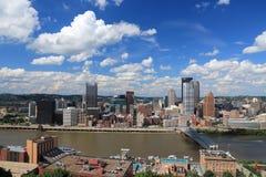 Pittsburgh horisont arkivbilder