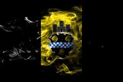 Pittsburgh miasta dymu flaga, Pennsylwania stan, Stany Zjednoczone royalty ilustracja