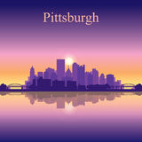 Pittsburgh miasta linii horyzontu sylwetki tło Fotografia Stock