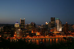 Pittsburgh at Night. A view of downtown Pittsburgh, PA at night Royalty Free Stock Photo