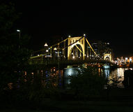 Pittsburgh at Night. Clemente Bridge at Night Stock Image