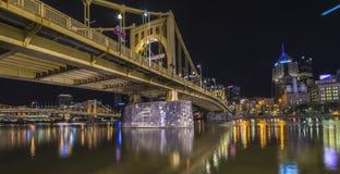 Pittsburgh at night Stock Photos