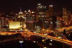 Pittsburgh At Night Stock Image