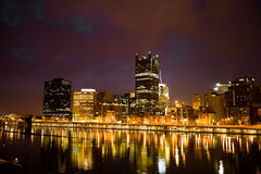 Pittsburgh at night. The city of Pittsburgh Pennsylvania at night Royalty Free Stock Photography